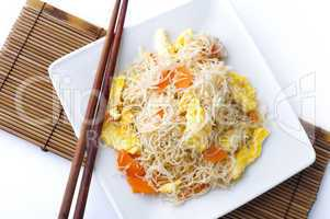 Fried rice vermicelli.