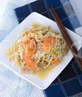 Bean sprouts - vegetarian food.