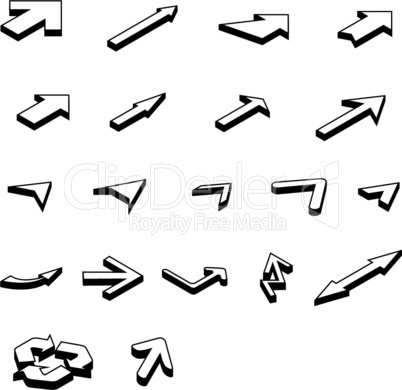 arrows isometric