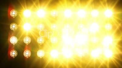 Bright lights flicker