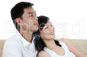 Asian couple.