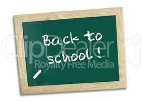back to school on chalk board