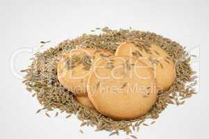 Cumin seed biscuits