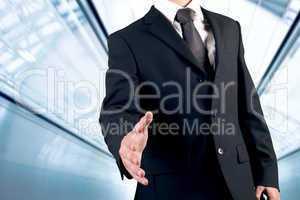 Business man handshake