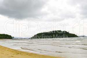 Perfect white sand beach in paradise location
