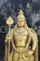Giant statue of Lord Murugan at Batu Caves temple