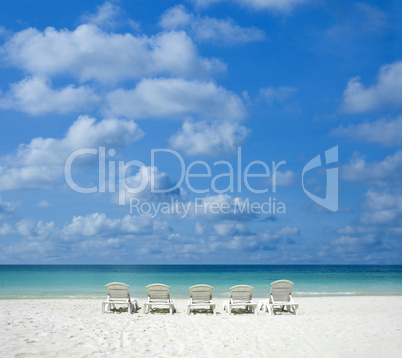 beach with chair.