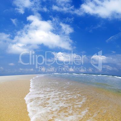 Blue beach.