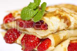 Strawberry crepe.