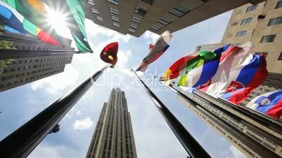 Rockefeller Center Flags