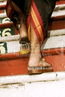devotee's leg