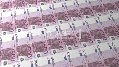 Multiple 500 Euro Banknote Background