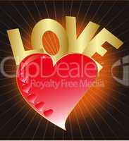 Herz mit Love - Heart with love