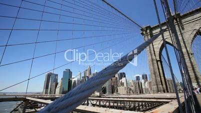 Skyline and Brooklyn Bridge