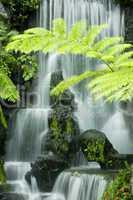 Japanese garden waterfalls