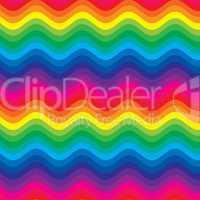 colorful rainbow waves