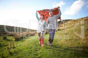 Couple in countryside