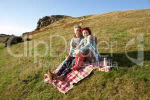 Couple on country picnic