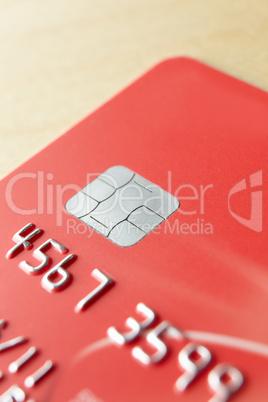 Detail close up bank card