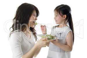 Feeding cake for mama