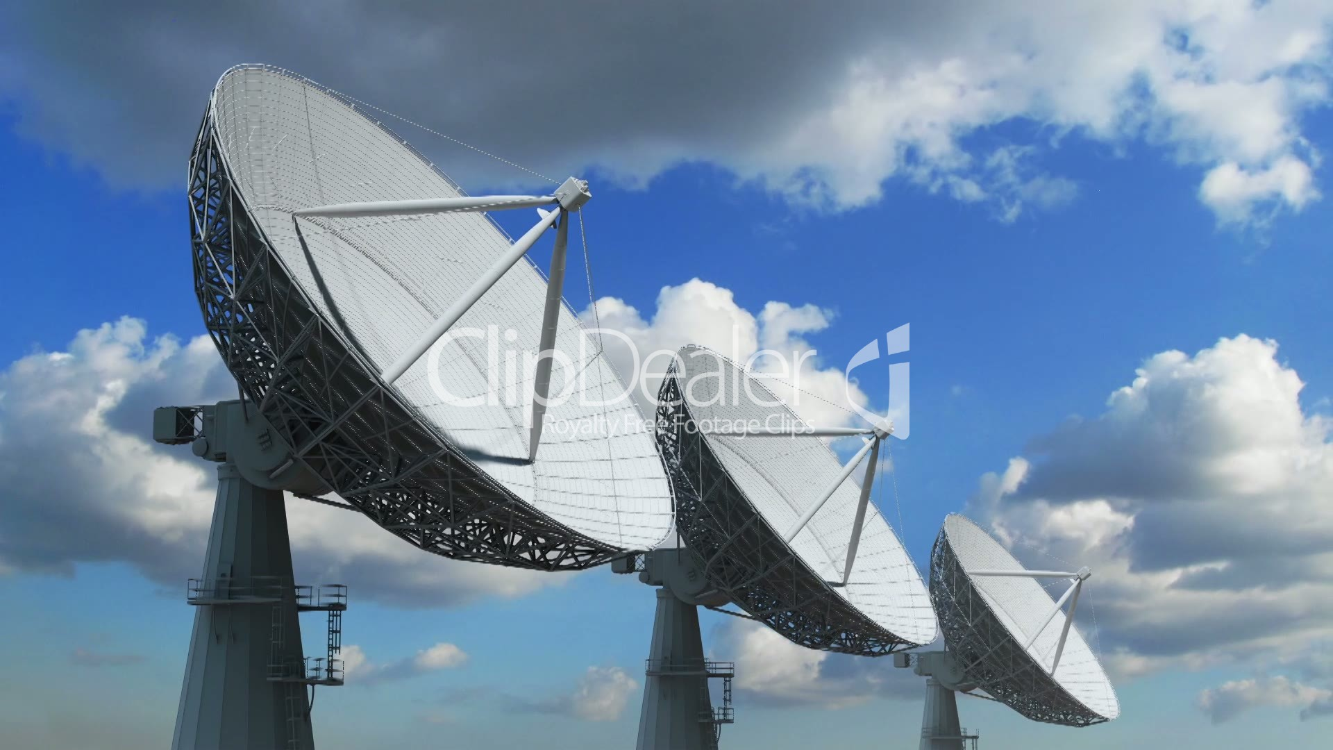Array Of Satellite Dishes Royalty Free Video And Stock