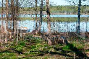 See in Schweden im Frühling