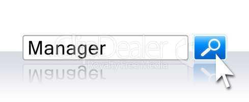 Internet Suchfeld - Manager gesucht