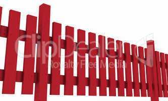 3D Holzzaun - rot freigestellt 02
