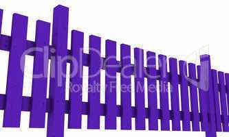 3D Holzzaun - violett freigestellt 02