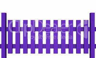 3D Holzzaun - violett freigestellt 03