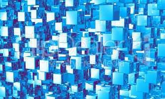 Mega cubes background blau 01