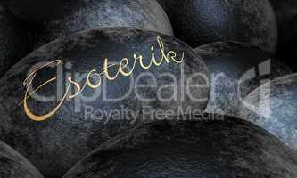 Schwarze Steine mit Text - Esoterik