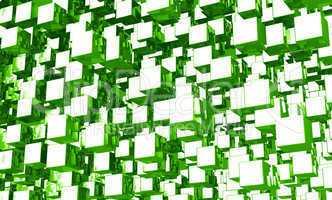 Mega cubes background grün 01