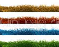 Gras Panorama - Bunte Mischung 01