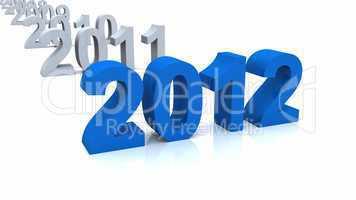 3D Chronologie 2012 blau