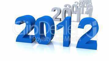 Die Chronologie 2012 blau
