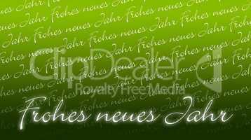 Silvesterkarte - Frohes neues Jahr - grün