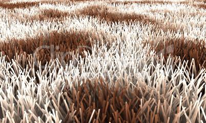 Teppich - Braun Weiß
