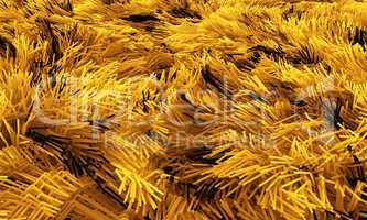 Wilder Teppich - Gelb Schwarz 02