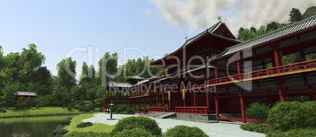 Japanischer Tempel im Hochland 02