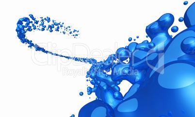 Blauer Spritzer freigestellt 02