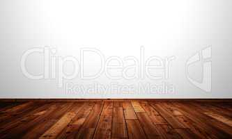 Weisse Wand mit Holzboden - Lärche Antik