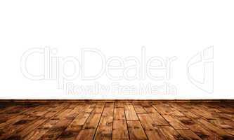 Weisse Wand mit Holzboden - Eiche Ast