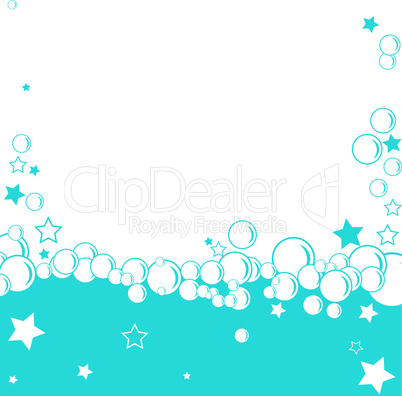 Abstract blue circle background, winter illustration.