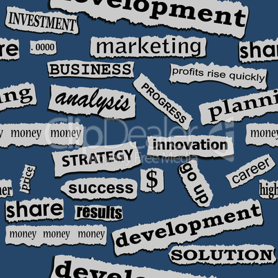 Seamless business paper torn piece background, word opportunity career illustration.
