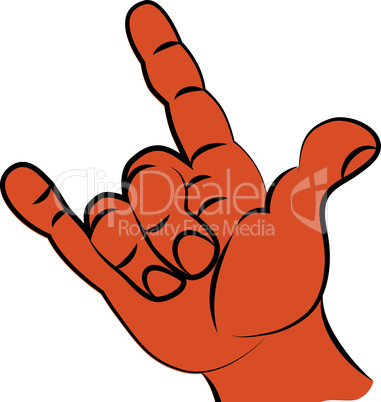 Gesture symbol of rock music