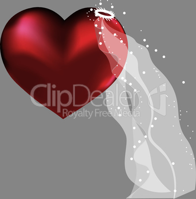 Love heart in bridal valentine cute wedding background.
