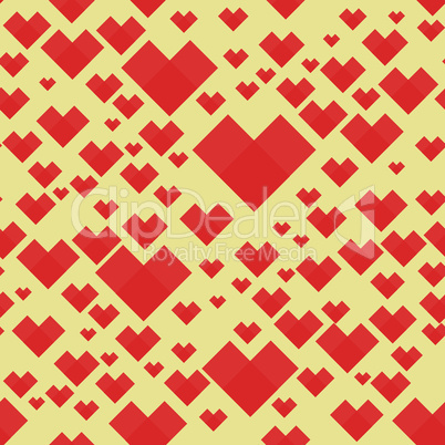 Square pattern heart background