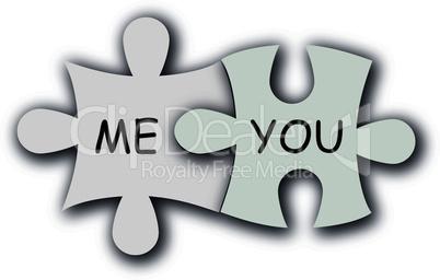 Paper puzzle as love symbol