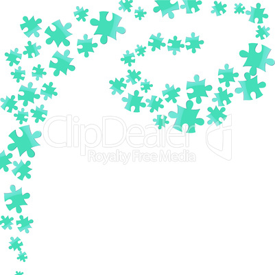 Vector jigsaw puzzle background